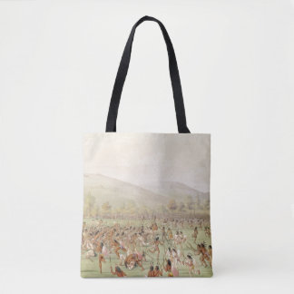 The Indian Ball Game, c.1832 Tote Bag