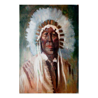 The Indian Chief Western Art Print