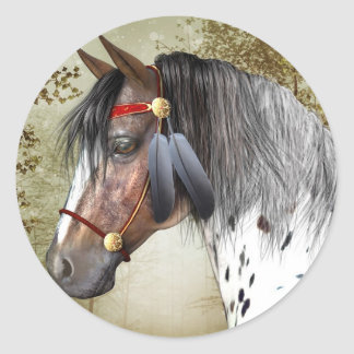 The Indian Pony Sticker - Round