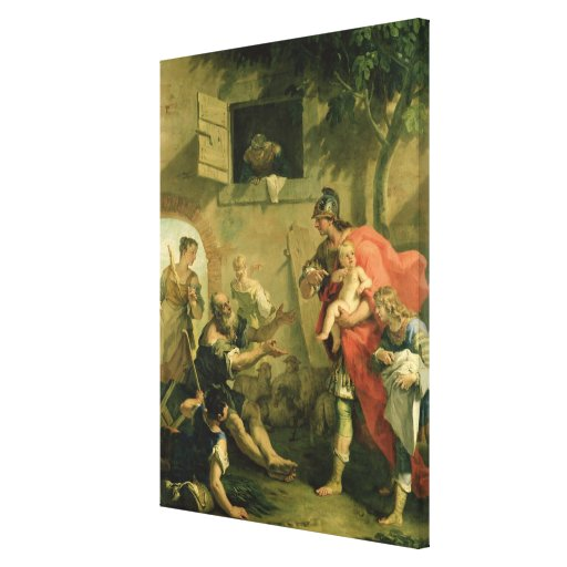 The Infant Cyrus with the Shepherd Canvas Print