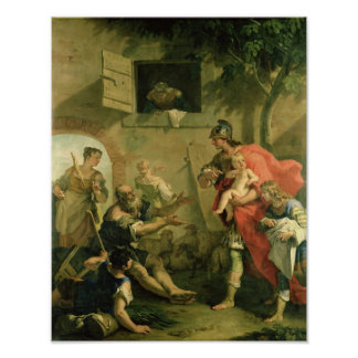The Infant Cyrus with the Shepherd Poster