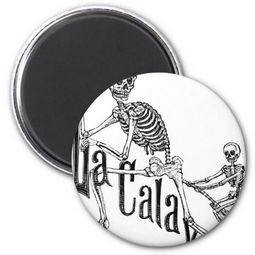 The Infernal Calavera. The Day of the Dead. Magnets