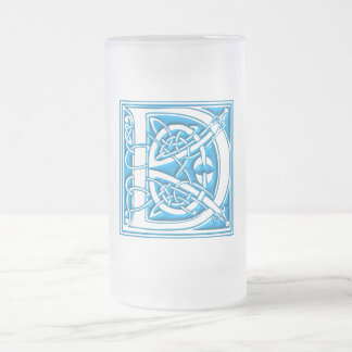The Initial D 16 Oz Frosted Glass Beer Mug