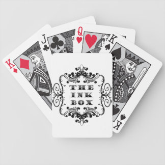The Ink Box logo Bicycle Playing Cards