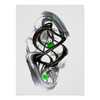 The Inkwell Abstract Poster