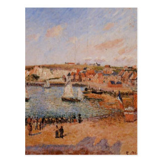 The Inner Harbor, Dieppe Afternoon, Sun, Low Tide Postcard