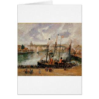 The Inner Harbor, Dpeppe, High Tide, Morning, Grey Card