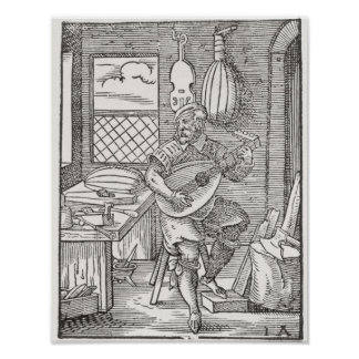 The Instrument Maker's Workshop, c.1570 Poster