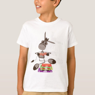 The Intellectual Donkey reading T-Shirt