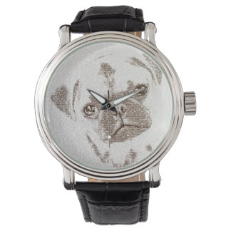 The Intellectual Pug Wristwatch