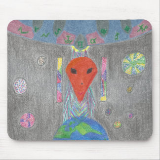 The Interaction UFO Earth and Alien Mousepad