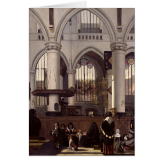 The Interior of Oude Kerk, Amsterdam, c.1660 Greeting Card