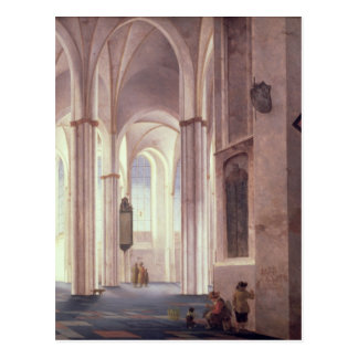 The Interior of the Buurkerk at Utrecht, 1644 Postcard