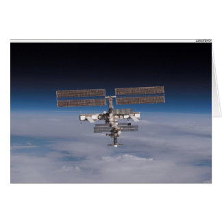 The International Space Station on the Horizon Card