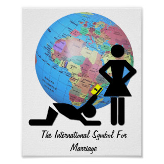 The International Symbol For Marriage Poster