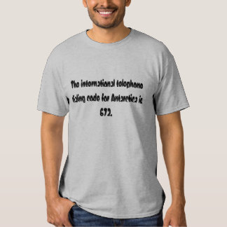 The international telephone dialing code for An... Shirts