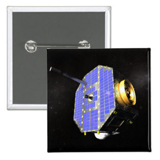 The Interstellar Boundary Explorer satellite 2 Inch Square Button