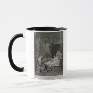 The Interview of Augustus and Cleopatra, engraved Mug