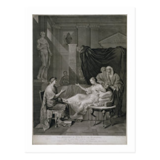 The Interview of Augustus and Cleopatra, engraved Postcard