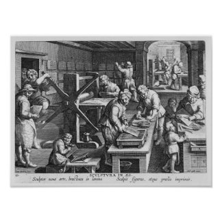 The Invention of Copper Engraving Poster