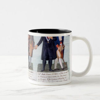 The Invention of the Red Hat,Manuel, Petion Two-Tone Coffee Mug