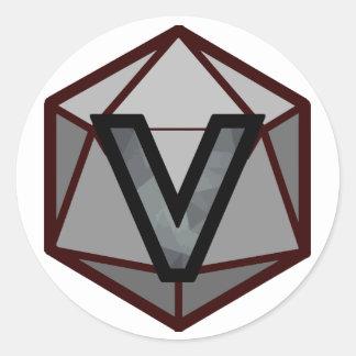 "The INVICTUS Stream ""GREY TEAM"" Logo Classic Round Sticker"