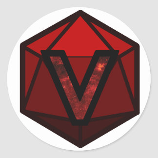 "The INVICTUS Stream ""RED TEAM"" Logo Classic Round Sticker"