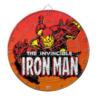 The Invincible Iron Man Graphic Dartboard With Darts