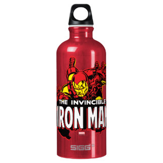 The Invincible Iron Man Graphic Water Bottle