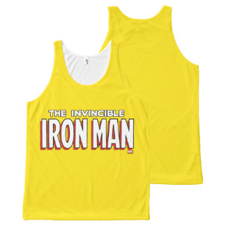 The Invincible Iron Man Logo All-Over-Print Tank Top