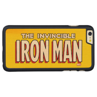 The Invincible Iron Man Logo Carved® Maple iPhone 6 Plus Case
