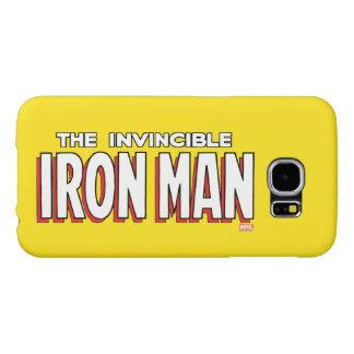 The Invincible Iron Man Logo Samsung Galaxy S6 Cases