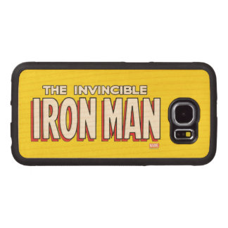 The Invincible Iron Man Logo Wood Phone Case