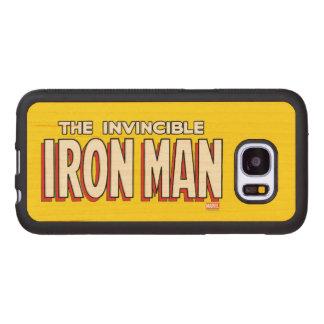 The Invincible Iron Man Logo Wood Samsung Galaxy S7 Case