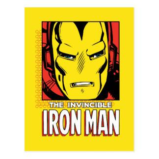 The Invincible Iron Man Retro Comic Icon Postcard