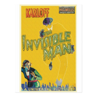 THE INVISIBLE MAN by Philip J. Riley Postcard