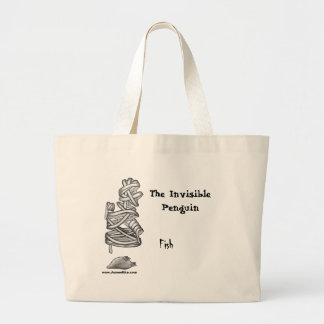 The Invisible Penguin: Fish Large Tote Bag