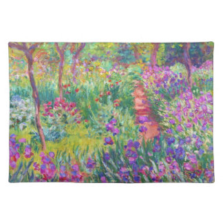 The Iris Garden at Giverny Claude Monet cool, old, Placemat