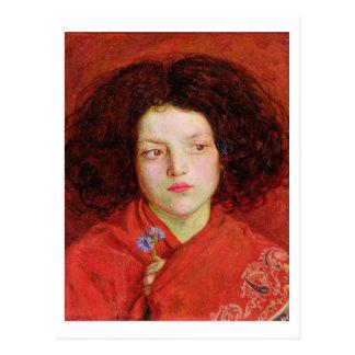 The Irish Girl, 1860 (oil on canvas laid down on b Postcard