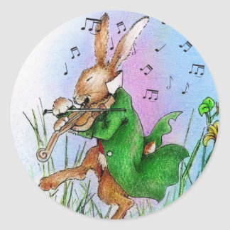 THE IRISH HARE CLASSIC ROUND STICKER