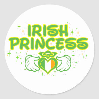 The Irish Princess Classic Round Sticker