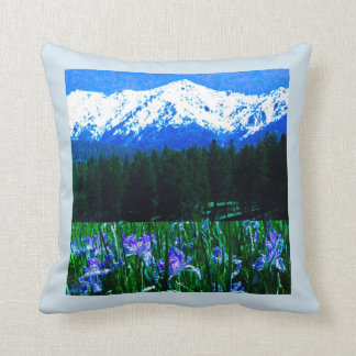 The Iris's of the Elk Horn Mountains Pillow