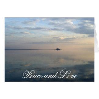 The island, peace and love card