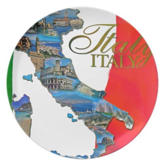 "The Italian ""Boot"" Plate"
