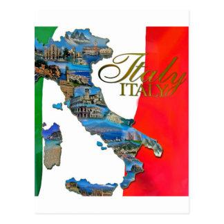 "The Italian ""Boot"" Postcard"