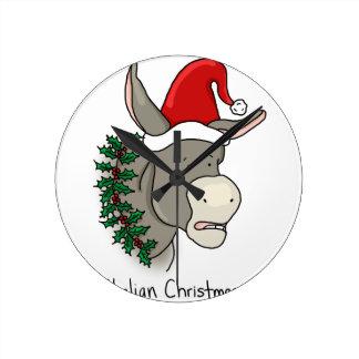 The Italian Christmas Donkey Wallclock