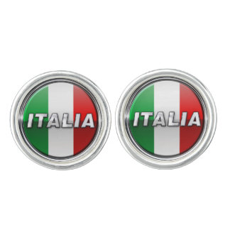 The Italian Flag - La bandiera d'Italia Cufflinks