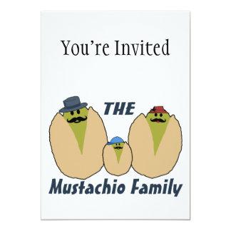 "The Italian Mustachio Family 5"" X 7"" Invitation Card"
