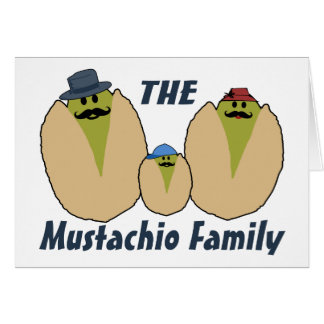 The Italian Mustachio Family Card