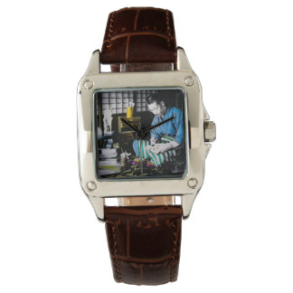 The Ivory Carver Craftsman in Old Japan Vintage Wristwatch